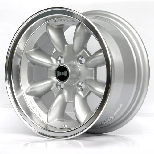SPML3F / ULTRALITE ESCORT CAPRI WHEELS 13x7J - ET10 - 4x108 PCD - SILVER - POLISHED