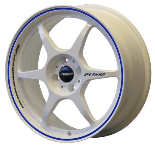 BUDDY CLUB SF 17 X 7 - ET42 - 100 X 4 - GLOSS WHITE BLUE PINLINE