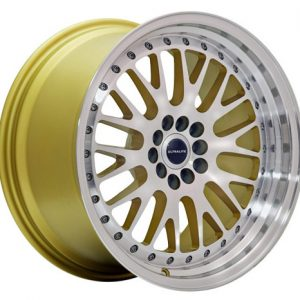 ULTRALITE UL10 18x8.5 - ET20 - 5x112+100 PCD - GOLD MACHINED FACE