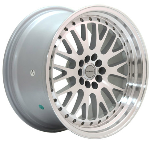 ULTRALITE UL10 18x8.5 - ET20 - 5x112+100 SILVER MACHINED FACE