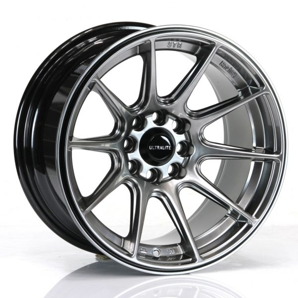 ULTRALITE UL11 - 15 x 8 INCH - ET0 - 100+108 x 4 PCD CHROME BLACK
