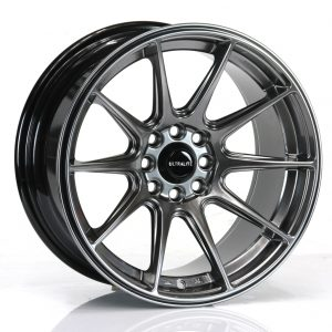 ULTRALITE UL11 - 16 x 8 INCH - ET25 - 100+108 x 4 PCD CHROME BLACK