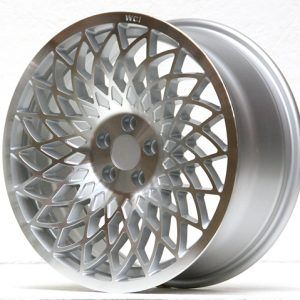 REPLICA MT10 WHEEL - 17x7.5 INCH - ET35 - 100x5 PCD - SILVER MACHINE FACE - LH