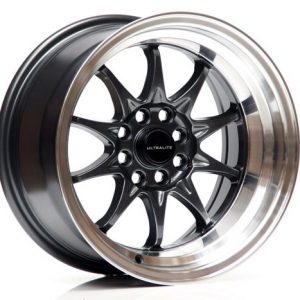 ULTRALITE UL48 15 x 9 - ET0 - 4x100+108 PCD - GUN GREY POLISHED RIM