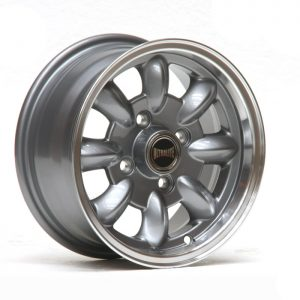 ULTRALITE MINI WHEELS 12x5.5J - ET20 - 4x101.6 PCD - GUNMETAL + MACHINED LIP