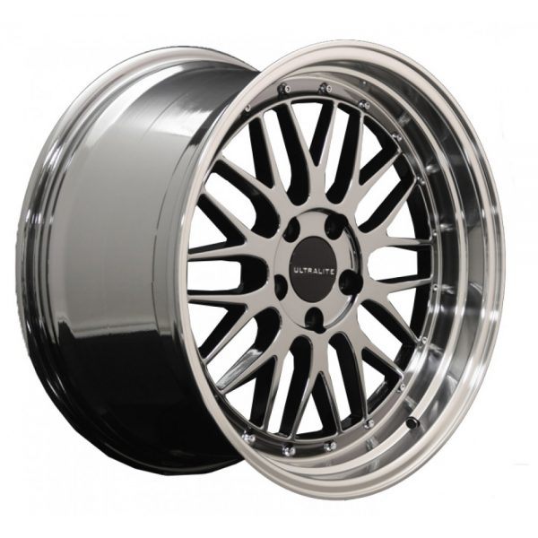 ULTRALITE LM 18x8 - ET35 - 5x112 PCD - BLACK CHROME POLISHED RIM