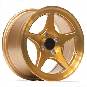 ULTRALITE ZERO 1 - 15 x 7.5 INCH - ET30 - 100 x 4 PCD - BRUSH GOLD