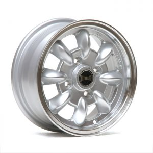 ULTRALITE MINI WHEELS 12x5J - ET30 - 4x101.6 PCD- SILVER + POLISHED RIM