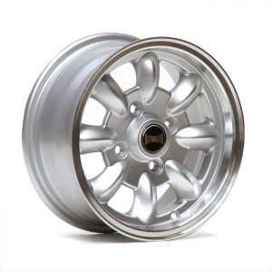 ULTRALITE MINI WHEELS 12x5.5J - ET20 - 4x101.6 PCD - GLOSS SILVER + MACHINED LIP